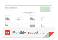 Example: automated PDF reports