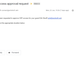 Art of WiFi captive portal for UniFi networks now supports Sponsored Access